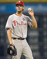 Hamels, Cole 5679.jpg Philadelphia Phillies at Houston Astros. Major League Baseball. September 6th, 2009 at Minute Maid Park in Houston, Texas. Photo by Andrew Woolley.