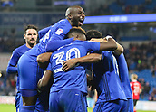 31st October 2017, Cardiff City Stadium, Cardiff, Wales; EFL Championship football, Cardiff City versus Ipswich Town; Cardiff City players celebrate going 2-0 up early in the 2nd half