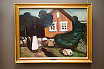 'House in the Moonlight' 1893-95 oil painting on canvas by Edvard Munch 1863-1944, Kode 3 art gallery Bergen, Norway