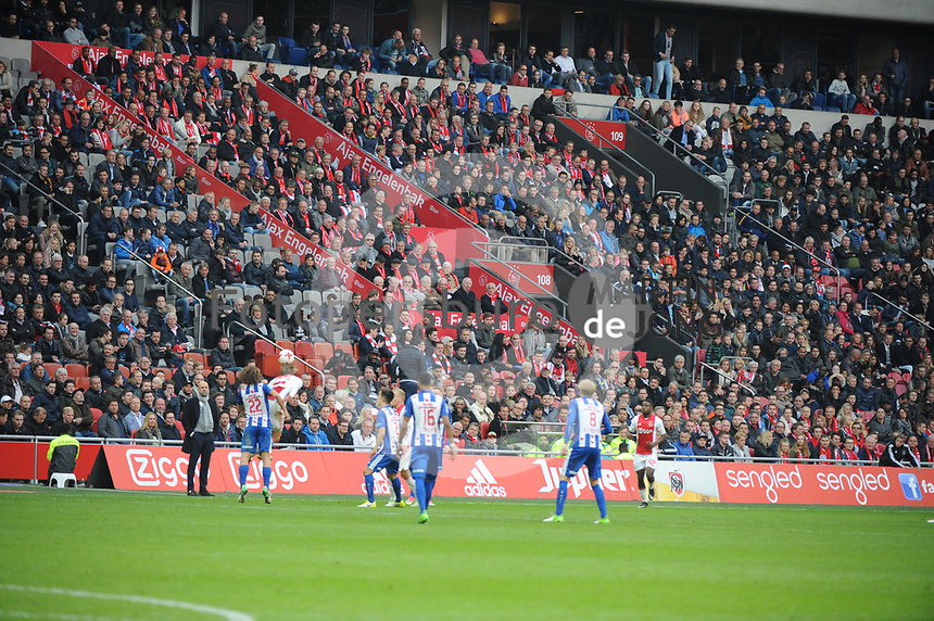 VOETBAL: AMSTERDAM: 16-04-2017, AJAX - SC Heerenveen, uitslag 5 - 1, oud spelers op de tribune (AJAX engelenbak), ©foto Martin de Jong