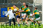 Kerry Brian Ó Beaglaoich tackles Roscommon's Sean McDermott during their NFKL Div 1 clash in Fitzgerald Stadium on Sunday