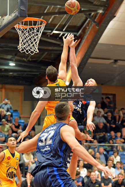 NELSON, NEW ZEALAND - APRIL 2: Nelson Giants v Taranaki Mountain Airs Trafalgar Centre on April 2, 2016 in Nelson, New Zealand.  (Photo by: Barry Whitnall/Shuttersport Limited)