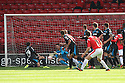 Chris Day of Stevenage saves a free-kick from Andy Taylor of Walsall<br />  - Walsall v Stevenage - Sky Bet League One - Banks's Stadium, Walsall - 19th October 2013. <br /> © Kevin Coleman 2013