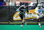 3 April 2010: Binghamton University Bearcats' Defenseman Griffin McLoughlin, a Senior from Latham, NY, in action against the University of Vermont Catamounts at Moulton Winder Field in Burlington, Vermont. The Catamounts defeated the visiting Bearcats 11-8 in Vermont's opening home game of the 2010 season. Mandatory Credit: Ed Wolfstein Photo
