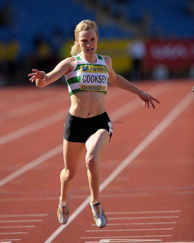 Photo: Ady Kerry/Richard Lane Photography..Aviva World Trials & UK Championships athletics. 12/07/2009. .Melinda Cooksey 200m semi final