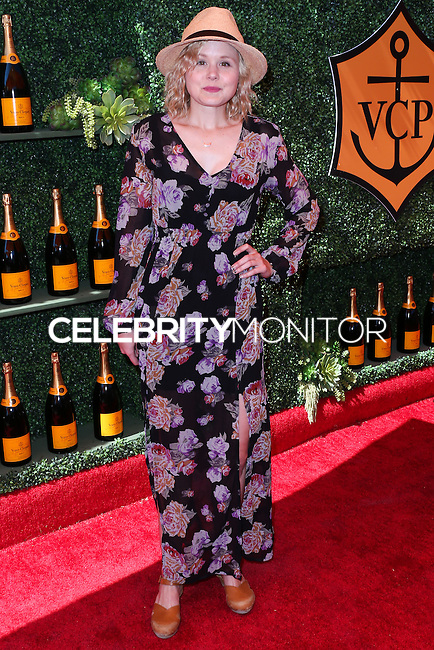 PACIFIC PALISADES, CA, USA - OCTOBER 11: Alison Pill arrives at the 5th Annual Veuve Clicquot Polo Classic held at Will Rogers State Historic Park on October 11, 2014 in Pacific Palisades, California, United States. (Photo by Xavier Collin/Celebrity Monitor)