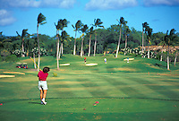Locals playing a round of golf at the Ko Olina Resort, west Oahu