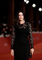 L'attrice Monica Bellucci posa sul red carpet per la presentazione del film 'Ville-Marie' al Festival Internazionale del Film di Roma, 20 ottobre 2015 .<br /> Italian actress Monica Bellucci poses on the red carpet to present the movie 'Ville-Marie' during the international Rome Film Festival at Rome's Auditorium, 20 October 2015 .<br /> UPDATE IMAGES PRESS/Isabella Bonotto
