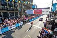 Picture by SWpix.com - 06/05/2018 - Cycling - 2018 Tour de Yorkshire - Stage 4: Halifax to Leeds - Stephane Rossetto of Team COFIDIS wins the stage