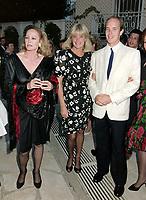 ARCHIVE: MONACO:  JUNE 1988: HSH Prince Albert of Monaco with Ursula Andress & Linda Evans at celebrity tennis tournament in Monaco.<br /> File photo © Paul Smith/Featureflash