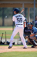 Detroit Tigers Zac Shepherd (59) during a Minor League Spring Training game against the Atlanta Braves on March 22, 2018 at the TigerTown Complex in Lakeland, Florida.  (Mike Janes/Four Seam Images)