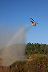 Cal Fire helicopter working on fire at Butano State Park