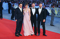 From left, Johnny Depp, Dakota Johnson, Scott Cooper and Joel Edgerton attend the red carpet for the movie 'Black Mass' during 72nd Venice Film Festival at the Palazzo Del Cinema in Venice, Italy, September 4, 2015. <br /> UPDATE IMAGES PRESS/Stephen Richie