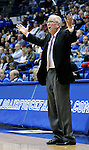 March 6, 2010:   San Diego State head coach, Steve Fisher, during Mountain West Conference action between San Diego State and Air Force at Clune Arena, U.S. Air Force Academy, Colorado Springs, Colorado.  San Diego State defeats Air Force 61-42.