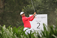 Julian Suri (USA) on the 2nd tee during Round 3 of the UBS Hong Kong Open, at Hong Kong golf club, Fanling, Hong Kong. 25/11/2017<br /> Picture: Golffile | Thos Caffrey<br /> <br /> <br /> All photo usage must carry mandatory copyright credit     (&copy; Golffile | Thos Caffrey)