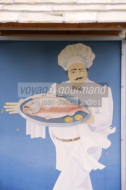 Europe/Croatie/Dalmatie/Dubrovnik: Enseigne d'un restaurant