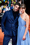 "Actor Alex Garcia and actress Michelle Jenner attends to orange carpet of ""El Continental"" during FestVal in Vitoria, Spain. September 03, 2018. (ALTERPHOTOS/Borja B.Hojas)"