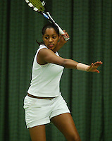 10-3-06, Netherlands, tennis, Rotterdam, National indoor junior tennis championchips, Zina Monteiro