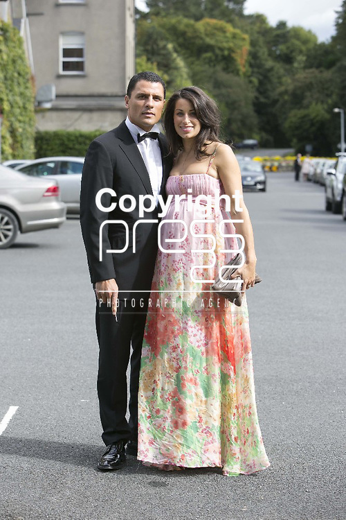 Ex Munster & all Black Doug  Howlett & his Wife Monique Arriving at the wedding of Ex Munster & Ireland Rugby Player Denis Leamy &  Grainne  Brosnan in Rockwell College Church Co.Tipperary Picture Credit: Brian Gavin Press 22