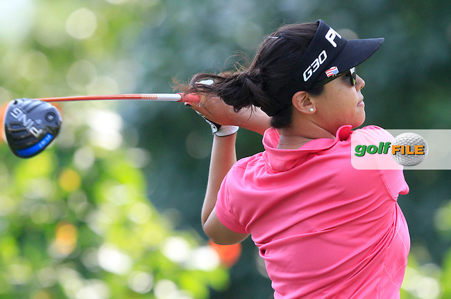 Jane Park (USA) on the 9th tee during Round 3 of the HSBC Women's Champions at the Sentosa Golf Club, The Serapong Course in Singapore on Saturday 7th March 2015.<br /> Picture:  Thos Caffrey / www.golffile.ie