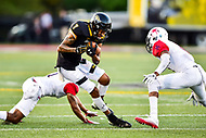 Baltimore, MD - OCT 14, 2017: Towson Tigers wide receiver Jabari Greenwood (7) in actoin during game between Towson and Richmond at Johnny Unitas Stadium in Baltimore, MD. The Spiders defeated the Tigers 23-3. (Photo by Phil Peters/Media Images International)