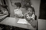 Havana, Cuba:<br /> Primary school students and teachers