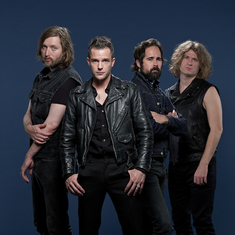 &copy; 2012 John Angerson<br /> THE KILLERS'  from left: MARK STOERMER, RONNIE VANNUCCI JR, BRANDON FLOWERS AND DAVE KEUNING