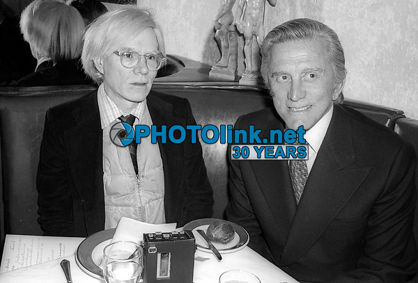 Andy Warhol Kirk Douglas 1978<br /> Photo By Adam Scull/PHOTOlink.net
