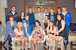 Clara O'Brien, Ballyspillane, Killarney, centre, pictured with some of her friends as she celebrated her 21st birthday in The Plaza, Killarney on Saturday night.......................