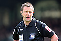 Referee Stuart Attwell. - Yeovil Town v Stevenage - npower League 1 - Huish Park, Yeovil - 14th April, 2012 . © Kevin Coleman 2012..