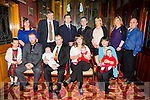 Parents Simon and Naomi Costello, Killorglin, Celebrate the christening of Baby Adam with family and friends at St Carthage's Church Brosna by Fr. Anthony O'Sullivan and after at the River Island Hotel Castleisland on Saturday Pictured Front l-r Alison Leahy, Daniel McDermott, Godparent, Baby Adam Costello, Simon Costello, Dad, Naomi Costello, Mum, Megan Costello, Zara Leahy, Rebecca Leahy, Godparent, Back l-r  Noranne Kelly, David Mills, Grandparent, Pat Leahy, Martin Costello, Grandparent, Susan Costello, Linda Costello and Paul Costello