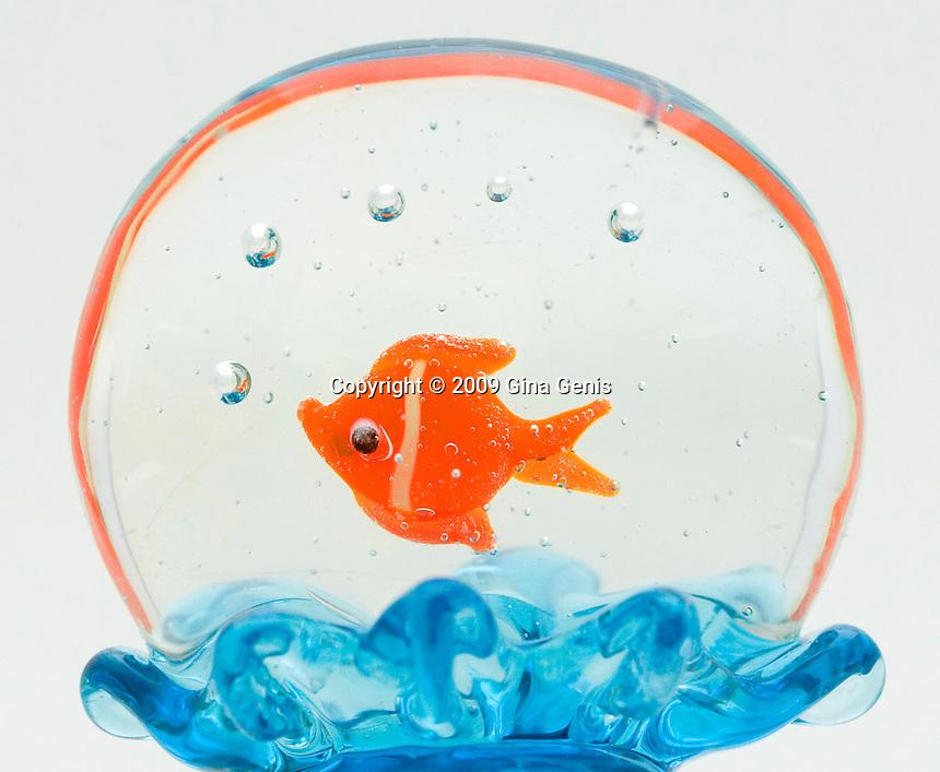 glass goldfish