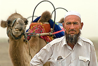 For centuries camel caravans crossed the Taklamakan Desert with the vendibles of antiquity on there way to oasis markets of the Silk Road. Today, tourists to the Xinjiang region of China can sample the journey with a short camel ride..