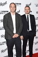 Simon Chinn and Roberto Minervini<br /> arriving for the London Film Festival Awards, Vue Leicester Square, London<br /> <br /> ©Ash Knotek  D3452  20/10/2018