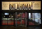 """Theatre Marquee unveiling for Rogers & Hammerstein's   """"Oklahoma!""""  at Circle in the Square Theatre on February 21, 2019 in New York City."""