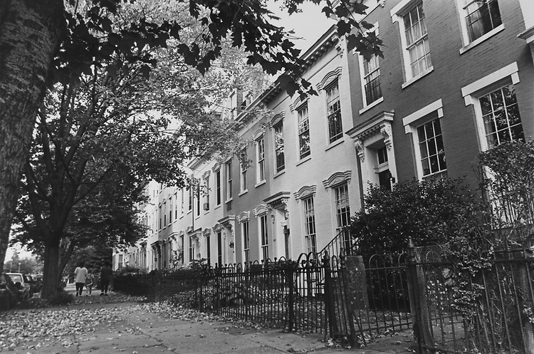300 Block of 2nd Street South East down the street from Madison Building and house Building, in October 1992. (Photo by Maureen Keating/CQ Roll Call via Getty Images)