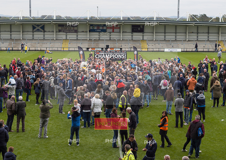 29/04/2017 National League North AFC Fylde v Worcester City<br /> <br /> Fans join in the celebrations