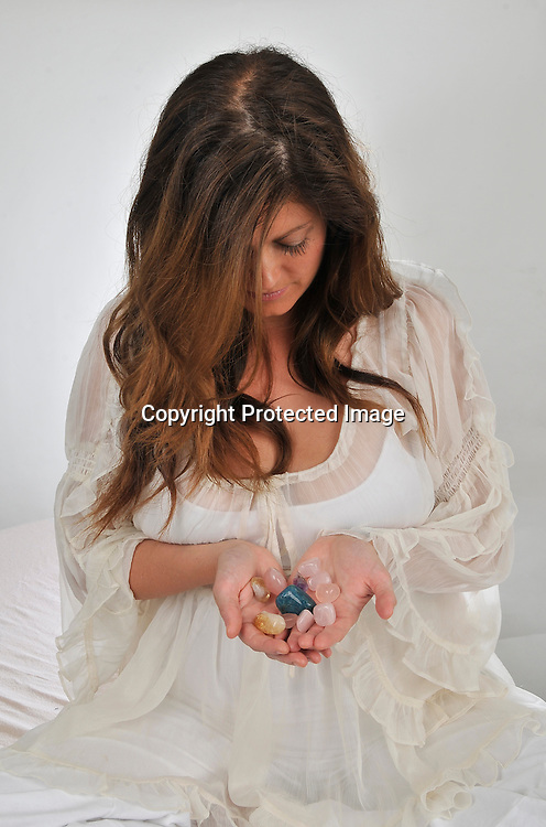 Royalty Free Stock Photo of a woman holding holistic treatment