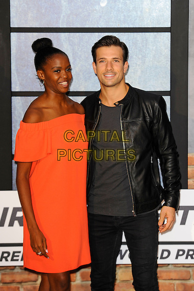 LONDON, ENGLAND - SEPTEMBER 20: Oti Mabuse and Danny Mac attending 'The Girl On The Train' World Premiere at Odeon Cinema, Leicester Square on September 20, 2016 in London, England.<br /> CAP/MAR<br /> &copy;MAR/Capital Pictures