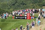 Gregory Bourdy hits his tee shot on the 17th on his way to victory in the ISPS Handa Wales Open 2013 at the Celtic Manor Resort.<br /> 01.09.13<br /> <br /> &copy;Steve Pope-Sportingwales