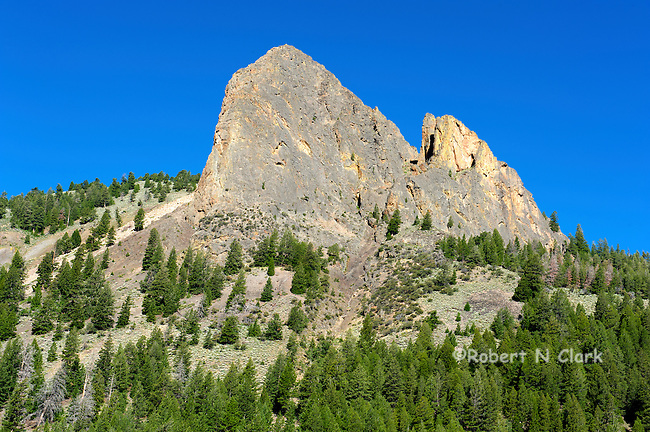Mountains in the Wildhorse Creek area to the East of Sun Valley, Idaho