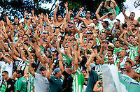 MEDELLÍN -COLOMBIA-11-JUNIO-2016. Hinchas  de Atlético Nacional  durante partido contra el  Atlético Junior   durante partido por la semifinal-semifinal vuelta de la Liga Águila I 2016 jugado en el estadio Atanasio Girardot ./ Fans  of Atletico Nacional during match against  of Atletico Junior  during the match for the semifinal of  the Aguila League I 2016 played at Atanasio Girardot  stadium in Medellin . Photo: VizzorImage / León Monsalve  / Contribuidor