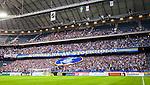 Solna 2015-08-10 Fotboll Allsvenskan AIK - Djurg&aring;rdens IF :  <br /> Djurg&aring;rdens supportrar med ett tifo inf&ouml;r matchen mellan AIK och Djurg&aring;rdens IF <br /> (Foto: Kenta J&ouml;nsson) Nyckelord:  AIK Gnaget Friends Arena Allsvenskan Djurg&aring;rden DIF supporter fans publik supporters inomhus interi&ouml;r interior tifo