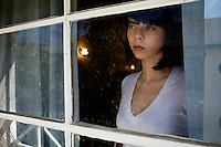 Los Angeles, Calif., February 26, 2009 - Actress and writer Alexi Wasser in her home in the Los Feliz section of Los Angeles. Wasser is the author of the blog, imboycrazy.com.
