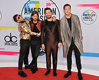 Imagine Dragons - Ben McKee, Daniel Wayne Sermon, Daniel Platzman &amp; Dan Reynolds at the 2017 American Music Awards at the Microsoft Theatre LA Live, Los Angeles, USA 19 Nov. 2017<br /> Picture: Paul Smith/Featureflash/SilverHub 0208 004 5359 sales@silverhubmedia.com