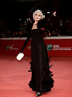 L'attrice italiana Marina Ripa di Meana posa sul red carpet di apertura della 12° edizione della Festa del Cinema di Roma, 26 ottobre 2017.<br /> Italian actress Marina Ripa di Meana poses on the 12th Rome Film Festival opening red carpet in Rome, October 26, 2017.<br /> UPDATE IMAGES PRESS/Isabella Bonotto