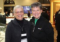 NWA Democrat-Gazette/CARIN SCHOPPMEYER Sr. Anita DeSalvo (from left) and Sr. Lisa Atkins attend the Patrons Party.