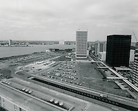 1969 February 27..Redevelopment.Downtown South (R-9)..View looking West from City Hall..HAYCOX PHOTORAMIC INC..NEG# 69-194.NRHA#..