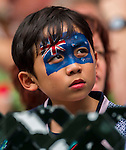 Fans enjoying the action and atmosphere during the Cathay Pacific / HSBC Hong Kong Sevens 2013 on March 2013 at Hong Kong Stadium, Hong Kong, China. Photo by Aitor Alcalde / The Power of Sport Images