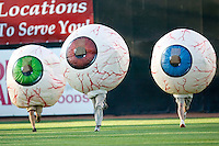 The popular racing eyeballs between innings at Ernie Shore Field in Winston-Salem, NC, Sunday, May 6, 2007